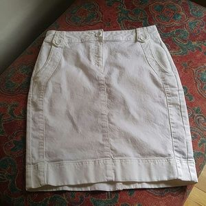 EUC white denim skirt
